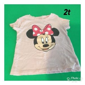 Other - Minnie Mouse  Short sleeve Tee Girls 2t ❤️